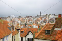 Whitby Rooftops Stock Photos