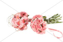 Two very pink bouquets Stock Photos
