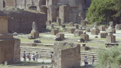 Palatine Hill Roman ruins and Roman Cathedral Stock Footage