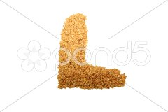 L is for linseed Stock Photos