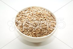 Sunflower seeds in a bowl Stock Photos