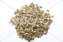 A heap of pumpkin seeds Stock Photos