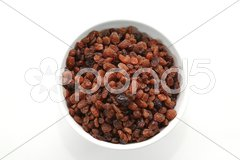 A bowl full of sultanas Stock Photos