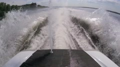 Spray water on jet ski Stock Footage