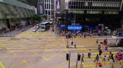 PEDESTRIANS CROSSING CENTRAL HONG KONG CHINA Stock Footage