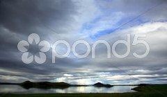 Lake Myvatn Iceland Stock Photos