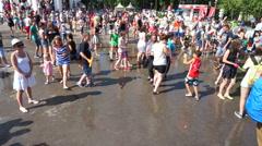 Openair water battle (Editorial) Stock Footage