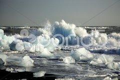 Icebergs on the beach Stock Photos
