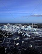 Icebergs and rough sea Stock Photos