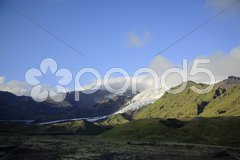 Tip of the glacier Stock Photos