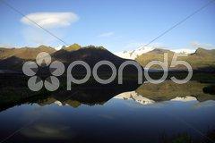 Reflection of glacier Stock Photos