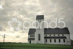 Skalholt church Stock Photos