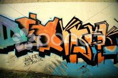 Icelandic graffiti Stock Photos