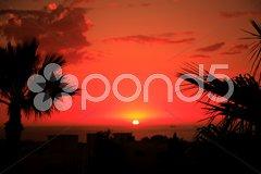 Moroccan sunset Stock Photos