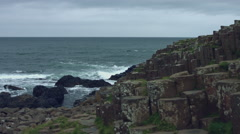 4k Fantasy Shot on Giant's Causeway, Northern Ireland Stock Footage