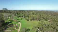 Rise above Seawinds Gardens at Arthurs Seat National Park. Melbourne, Australia Stock Footage
