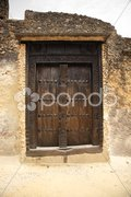 Old door Fort Jesus Mombasa Stock Photos