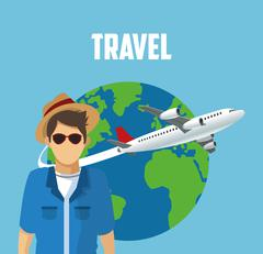 Travel trip airport design Piirros