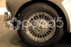 Classic car wheel Stock Photos