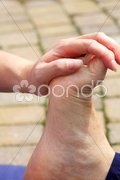 Toe stretch Stock Photos