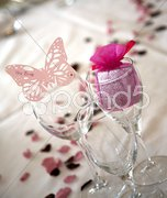 Butterfly bride place setting Stock Photos