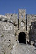 Rhodos City - die Stadtmauer mit dem Burggraben -  the city wall of rhodes city Stock Photos