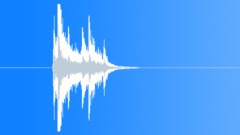 Metal Metal Hits Impacts Metal Folding Chair Int Medium Close Up Drops Onto Wre Sound Effect