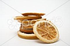Getrocknete Orangenscheiben Stock Photos