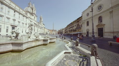 The Trevi Fountain, Rome Stock Footage