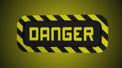 Rotating danger and keep out sign in one. Stock Footage