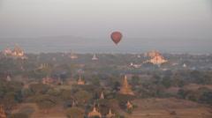 Bagan Myanmar temples valley Stock Footage