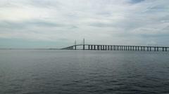 Skyway bridge Tampa Time Lapse Stock Footage