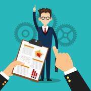 Human resources employee design Stock Illustration