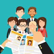 Human resources employee design Stock Illustration