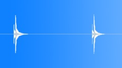 Impacts Impacts Paint Ball Bullets Hit Wood Int Close Up Single Shots 2x Sharp Sound Effect