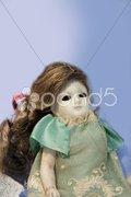Alte Antike Puppe Hintergrund Stock Photos