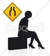 Wartende Frau / Vektor Stock Photos