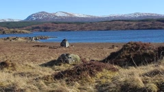 Rannoch Moor near Loch Rannoch in the Scottish Highlands Stock Footage