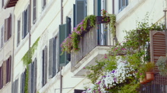 Traditional old Italian house in Rome Stock Footage