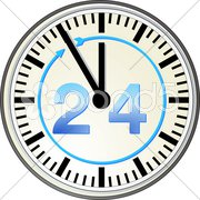 24 Stunden Stock Photos