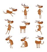 Cartoon deer vector character Stock Illustration