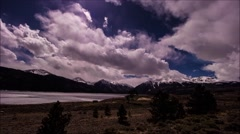 Time lapse clip at Twin Lake Colorado. Stock Footage