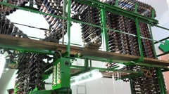 Carpet weaving power loom Stock Footage