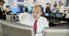 Young and ambitious stock market trader Stock Footage