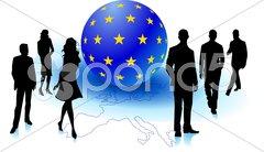 Europäische geschäftleute Stock Photos