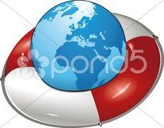 Welt-rettungsring Stock Photos