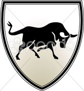 Stier wappen Stock Photos