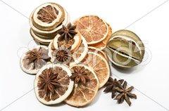 Getrocknete Zitrusfrüchte Stock Photos