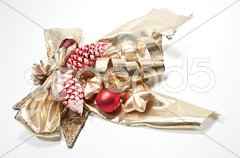 Decoration in rot und gold Stock Photos