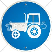 Trecker schild Stock Photos